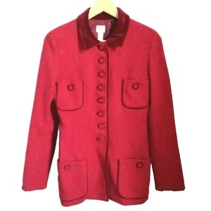 BONPOINT French Red Tweed Military Style Coat